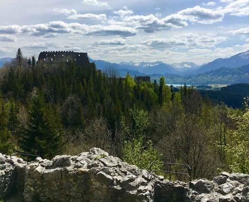 Sehenswürdigkeiten Füssen Burgruine Hohenfreyberg-bei-Pfronten-im-Ostallgaeu-2