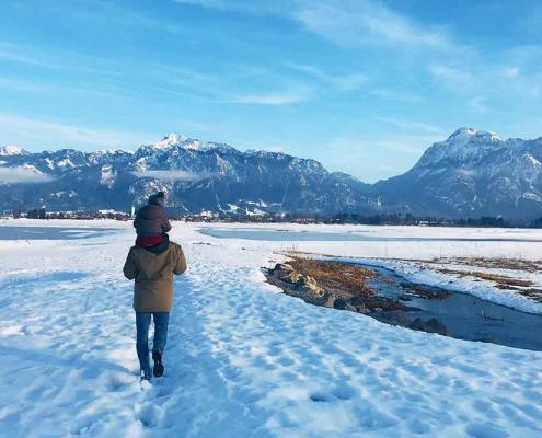 Forggensee bei Füssen im Ostallgäu