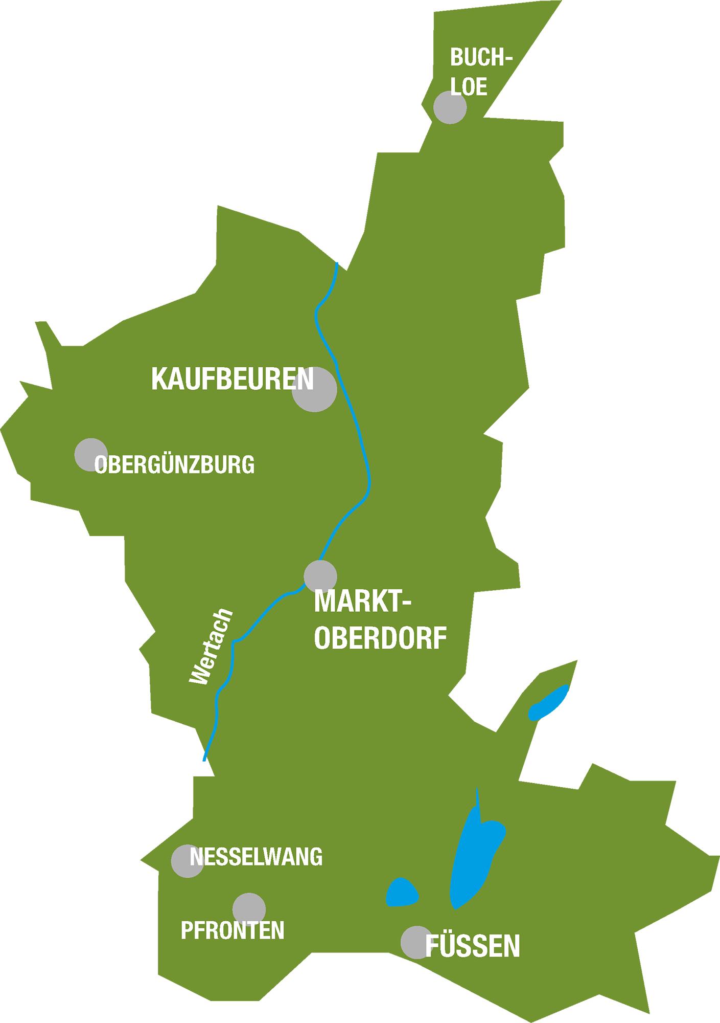 Karte Ostallgäu