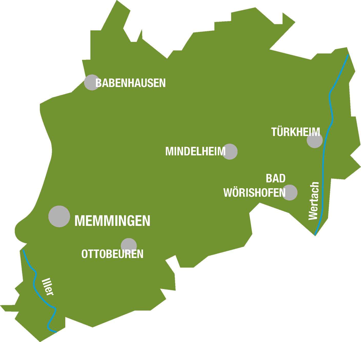 Karte Unterallgäu