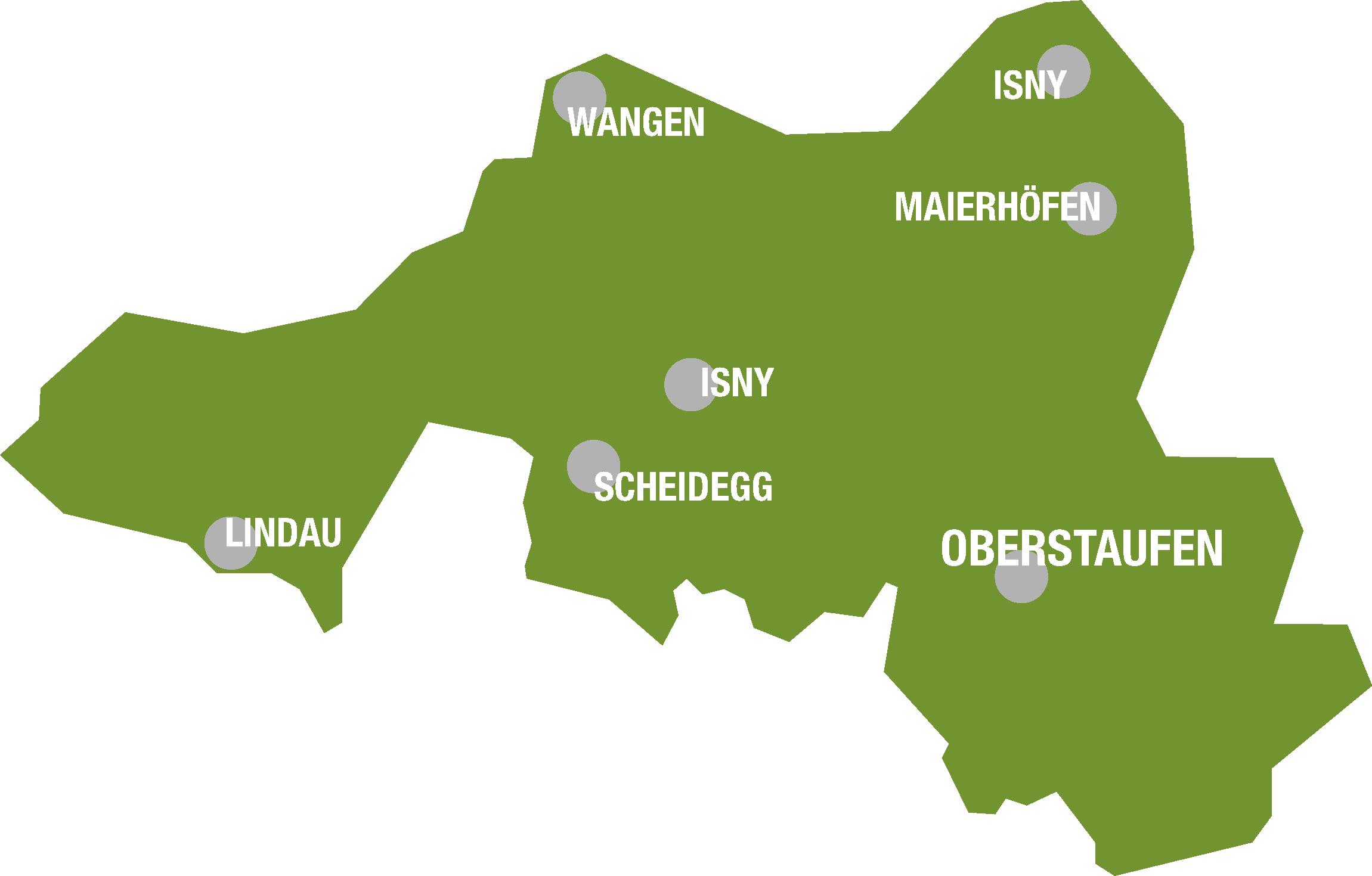 Karte Westallgäu