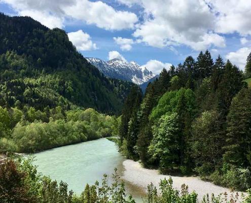 Lechfall Füssen im Ostallgäu