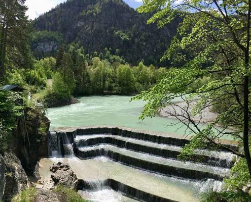 Wandern mit Kindern Allgäu   Lechfall Füssen im Ostallgäu