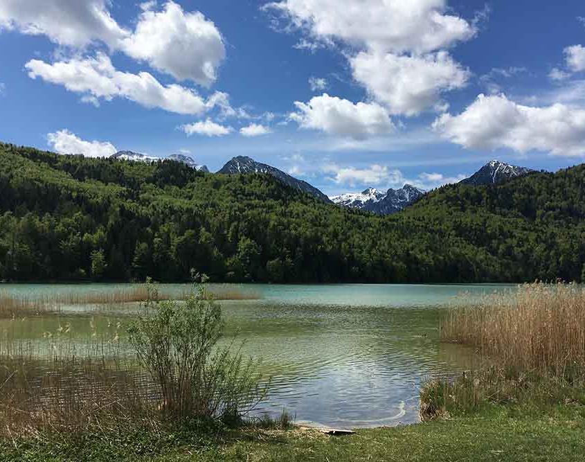 Seen Allgäu Ausflugsziele Ostallgäu Weißensee zwischen Pfronten und Füssen im Ostallgäu