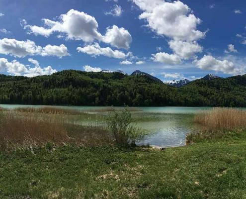 Weissensee zwischen Pfronten und Füssen im Ostallgäu