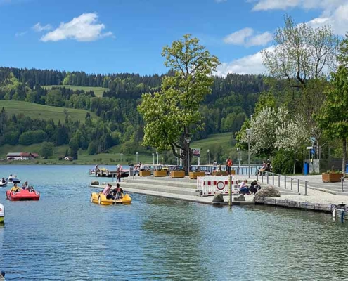 Großer Alpsee bei Bühl in der nähe vom Immenstadt im Oberallgäu