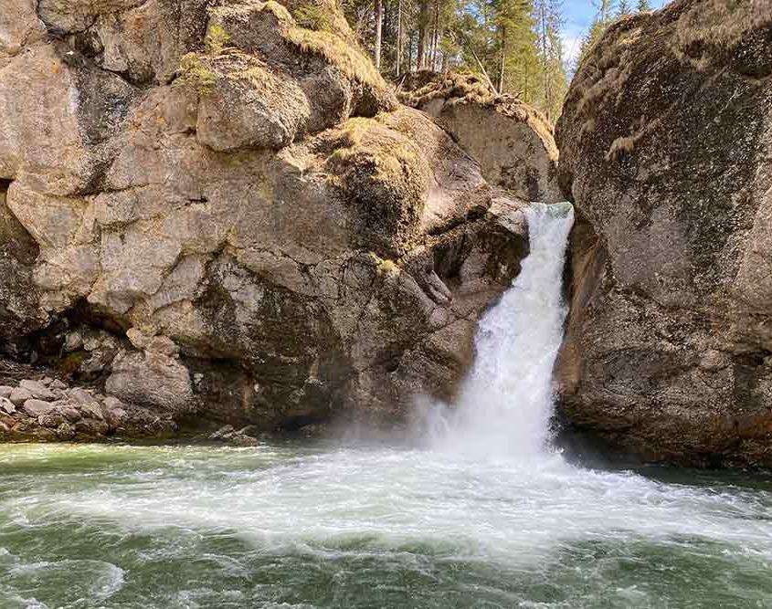 Buchenegger Wasserfälle bei Oberstaufen Steibis im Oberallgäu