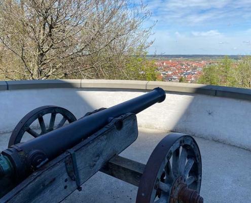 Kanone Schloss Mindelburg Mindelheim im Unterallgäu nahe Memmingen
