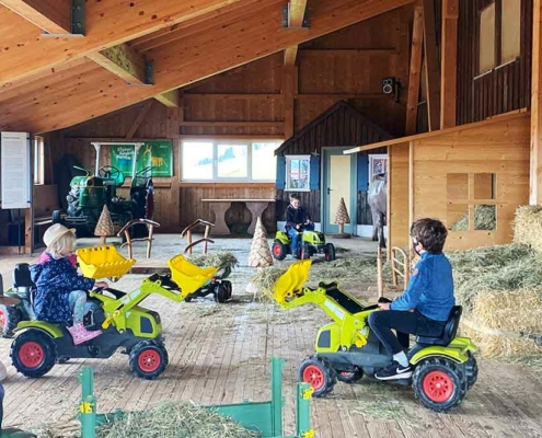 Bergbauernmuseum Diepolz im Allgäu bei Immenstadt Traktorfahrer