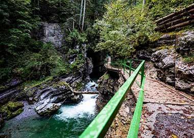 Wandern mit Kindern Allgäu | Breitachklamm bei Oberstdorf im Oberallgäu