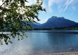 Seen Allgäu Forggensee bei Füssen im Ostallgäu