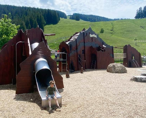 Abenteuerspielplatz Allgäu Rutsche