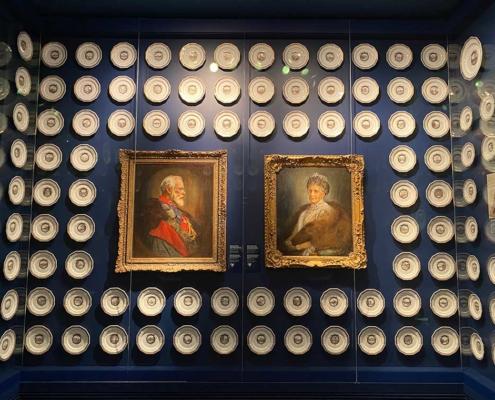 Museum der bayerischen Könige in Schwangau bei Füssen im Allgäu Hochzeitsteller