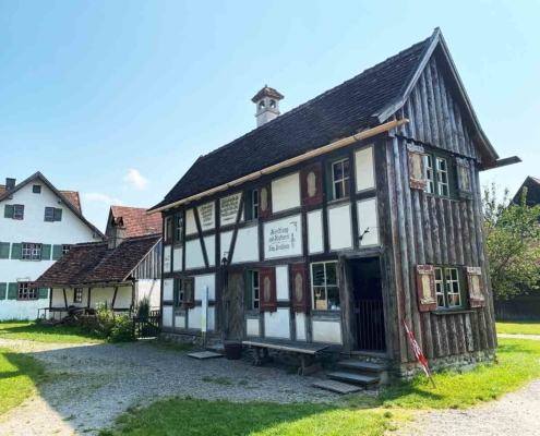Schwäbisches Bauernhofmuseum Illerbeuren Alters Fachwerk