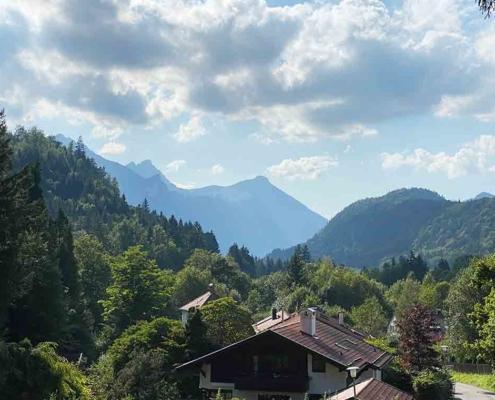 Bergwaldpfad Füssen Aussicht