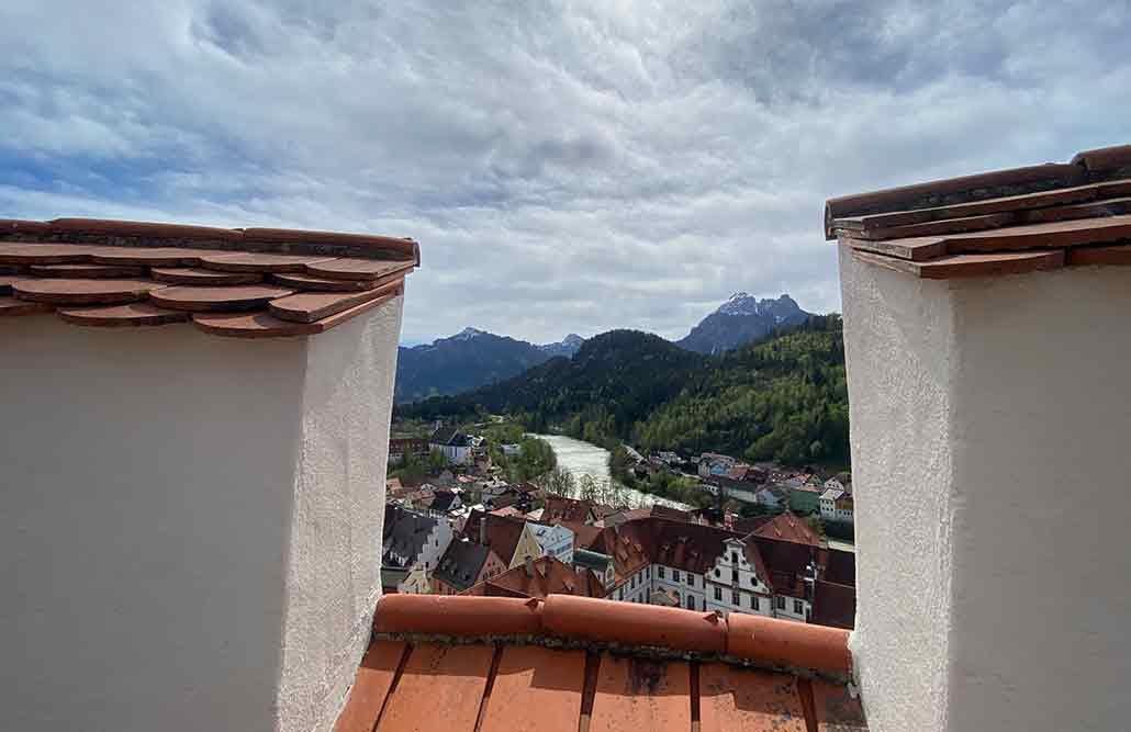 Hohes Schloss Füssen Lech Ausblick