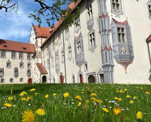 Hohes Schloss Füssen Innenhof Malereien